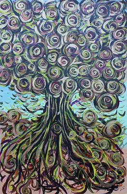 Painting - Tree Of Life- Fall by Gitta Brewster