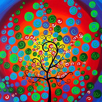 Tree Of Life Fantasy Art Print by Cathy Jacobs