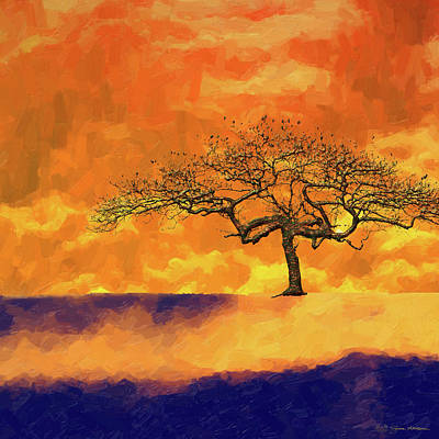 Digital Art - Tree Of Life - Golden Fog by Serge Averbukh