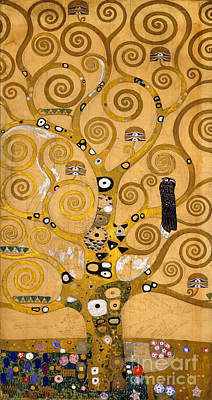 Hawk Painting - Tree Of Life by Gustav Klimt