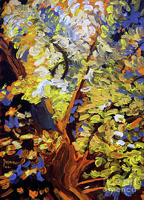 Pallet Knife Painting - Tree Of Life by Jasna Dragun