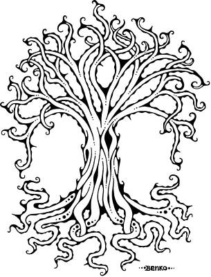 Tree Of Life Art Print by John Benko