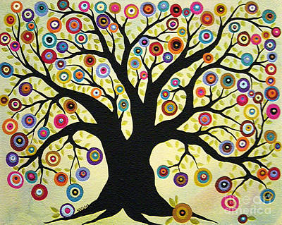 Folk Art Flowers Painting - Tree Of Life by Karla Gerard