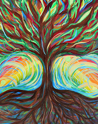 Tree Roots Painting - Tree Of Life by Katie Landon