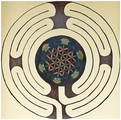 Tree Of Life Labyrinth Art Print by Folade Speaks