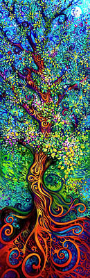 Chakras Painting - Tree Of Life by Laura Zollar