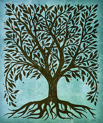 Wiccan Painting - Tree Of Life by Little Bunny Sunshine