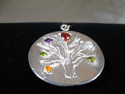 Sterling Silver Chains Jewelry - Tree Of Life by Louise Musto-Choate