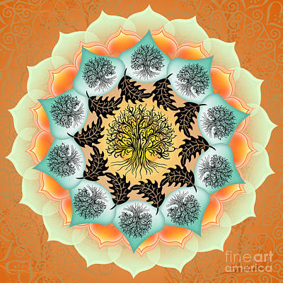 Digital Art - Tree of Life Mandala by Elizabeth Alexander