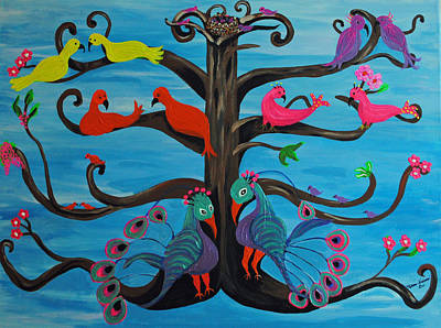 Fantasy Tree Art Painting - Tree Of Life by Melanie Wadman