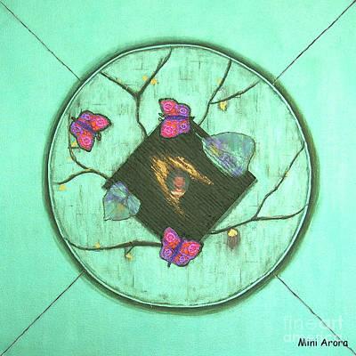 Mini Arora Collages Mixed Media - Tree Of Life by Mini Arora