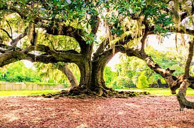 Dead Tree Trunk Digital Art - Tree Of Life - Nola by Kathleen K Parker