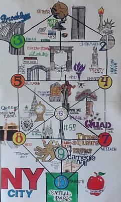 Illuminati Drawing - Tree Of Life Nyc  by Trevor Romano