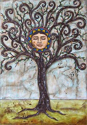 Rain Ririn Painting - Tree Of Life by Rain Ririn