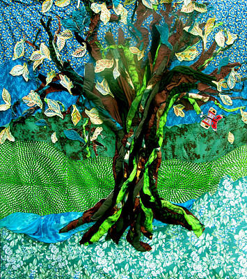 Tapestry - Textile - Tree Of Life by Sarah Hornsby
