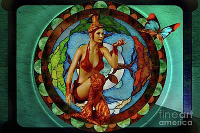 Gaia Digital Art - Tree Of Life by Shadowlea Is