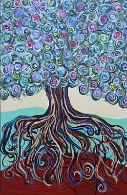 Painting - Tree Of Life-spring by Gitta Brewster