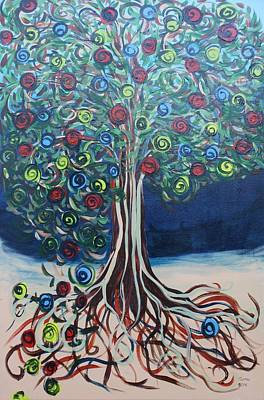Painting - Tree Of Life - Summer by Gitta Brewster