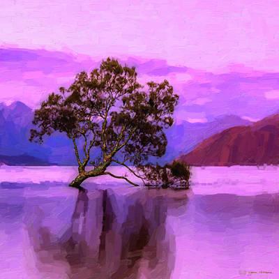 Digital Art - Tree Of Life - Violet Dream by Serge Averbukh