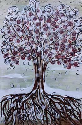 Painting - Tree Of Life - Winter by Gitta Brewster