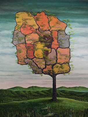 Painting - Tree Of Onondaga  by Maria Rizzo