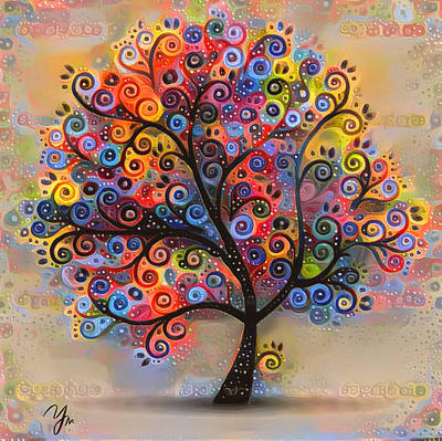 Digital Art - Tree Of Paradise 1 by Yury Malkov