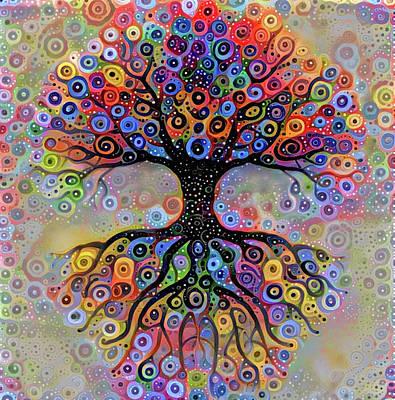 Digital Art - Tree Of Paradise 4 by Yury Malkov