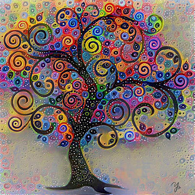 Digital Art - Tree Of Paradise 5 by Yury Malkov