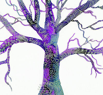 Mixed Media - Tree Of Peace by Tracey Everington