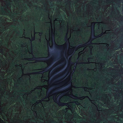Greens Painting - Tree Of Secrets by Kelly Jade King