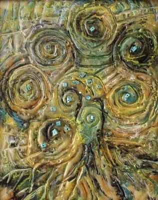 Mixed Media - Tree Of Swirls by Gitta Brewster