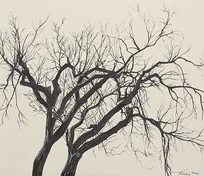 Drawing - Tree Of Twigs by Michelle Miron-Rebbe