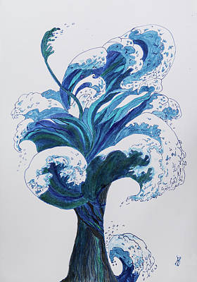 Painting - Tree Of Waves by Kathryn Bell