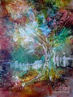 Tree On Fire Art Print