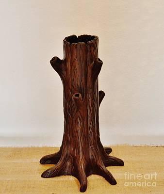 Ceramic Art - Tree by Paula Ludovino