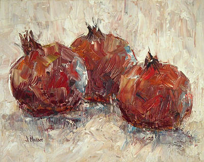 Three Pomegranates Art Print