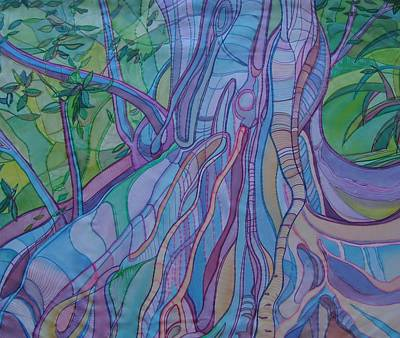 Tree Roots And Grasses Original