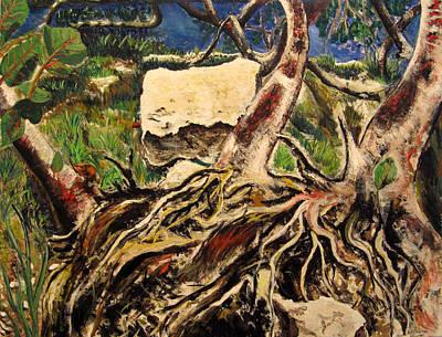 Tree Roots Painting - Tree Roots by Vladimir Kezerashvili