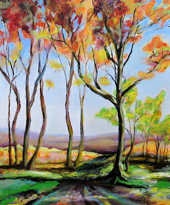 Painting - Tree Shadows by Jodie Marie Anne Richardson Traugott          aka jm-ART