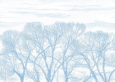 Art Print featuring the photograph Tree Silhouette Blue by Jennie Marie Schell