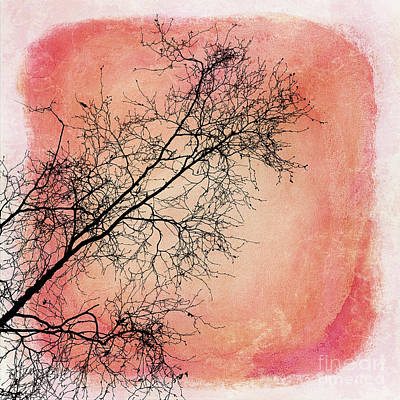 tree silhouettes II Art Print by Priska Wettstein