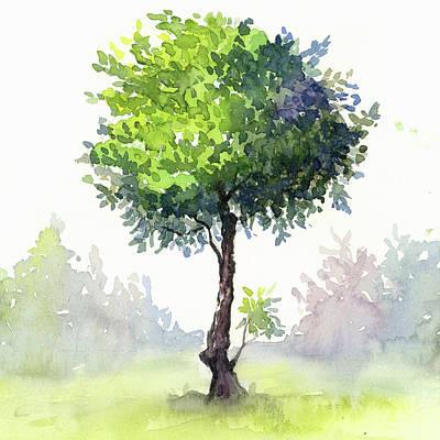 Alone Painting - Tree Study by Taylan Apukovska