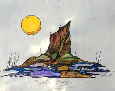 Painting - Tree Stump At Spooky Marsh by Pat Purdy