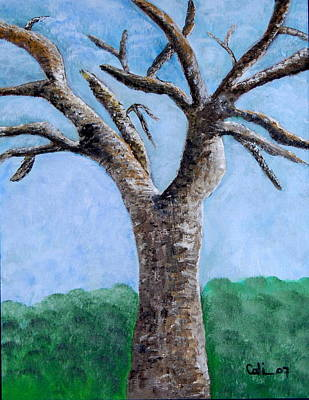 Painting - Tree Trunk by Calliope Thomas