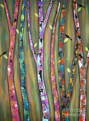 Blackbird Painting - Tree Whistlers by Karla Gerard
