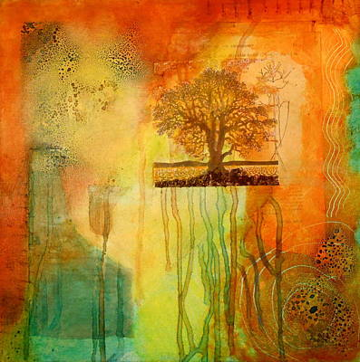 Tree With Roots Art Print by Veronica Stewart