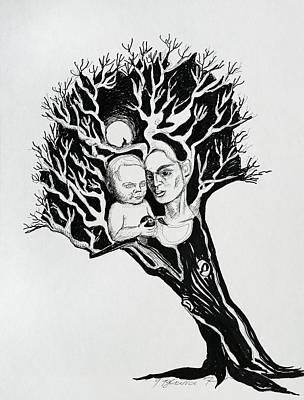 Drawing - Tree by Yelena Tylkina