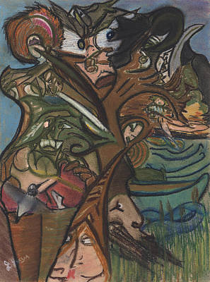 Treed In Skiatook Art Print by Stu Hanson