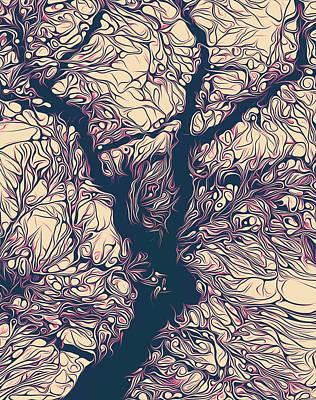 Treeflex Art Print by Mustafa Akgul
