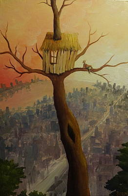 Treehouse Painting - Treehouse by Sarah Quandt